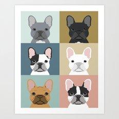 French Bulldog Portraits… Art Print