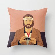 Throw Pillow featuring Richie by Perry Misloski