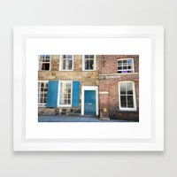 Teal Doors Framed Art Print