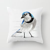 Blue Jay (Cyanocitta Cri… Throw Pillow