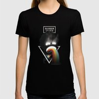 Rainbow Spewer Womens Fitted Tee Black SMALL