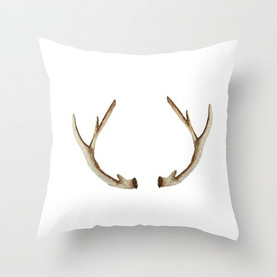Antler Throw Pillow : Antler Throw Pillow by Craftberrybush Society6