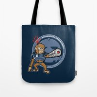 Automated Laser Monkey Tote Bag