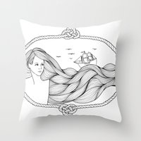 Tales Of The Sea Throw Pillow
