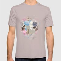 Vintage Flowers & Moths Mens Fitted Tee Cinder SMALL