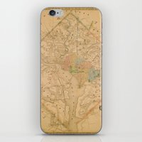 Civil War Washington D.C. Map iPhone & iPod Skin