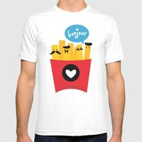 French Fries Mens Fitted Tee White SMALL