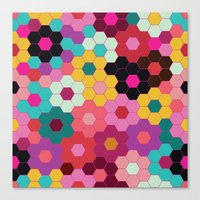 Honeycomb Blooms Canvas Print