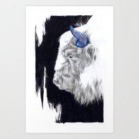 Space Cow Art Print
