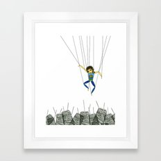 Marionette Boy Framed Art Print