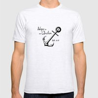 Hope Is An Anchor Mens Fitted Tee Ash Grey SMALL