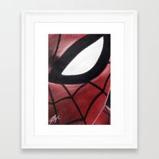 SPIDEY FACE Framed Art Print