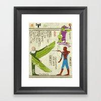 Hero-glyphics: Web-Slinger  Framed Art Print