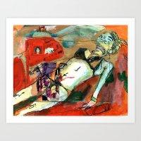 LISA-cHERRY-WEARIN-a-bIK… Art Print
