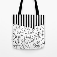 Abstract Outline Stripes… Tote Bag
