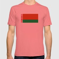 Belarus country flag Mens Fitted Tee Pomegranate SMALL