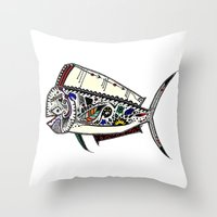 Mahi Mahi Color Throw Pillow