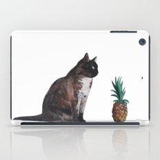 cat and pineapple iPad Case