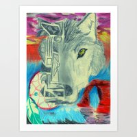 Desert Wolf Art Print