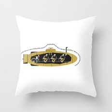 Cycling Sub Throw Pillow