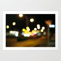 SUMMER LIGHTS Art Print