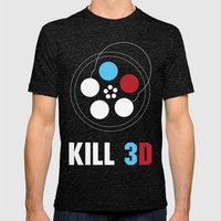 Kill 3D Mens Fitted Tee Tri-Black SMALL