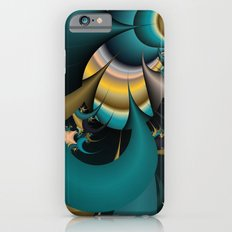 teal and yellow fractal  iPhone 6s Slim Case