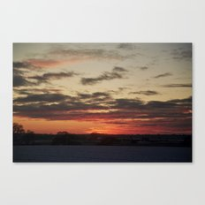 Norfolk Sunset in Snow Canvas Print