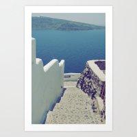 Santorini Stairs III Art Print