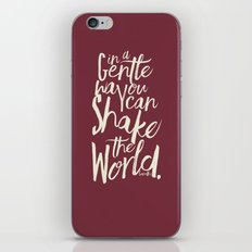 Kindness Quote By Gandhi… iPhone & iPod Skin