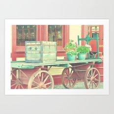 Baggage Cart Art Print