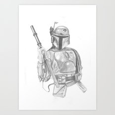 Boba Fett Art Print