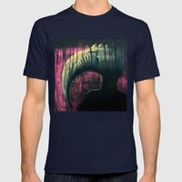 Pomegranate Mens Fitted Tee Navy SMALL