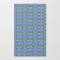 Dragon pattern Canvas Print