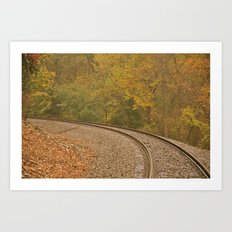 A Bend in the Tracks Art Print