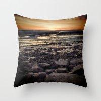 Rocky Sunset. Throw Pillow