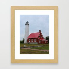 East Tawas Lighthouse- vertical Framed Art Print