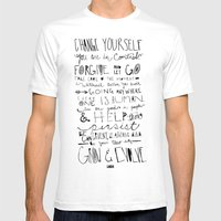 Gandhi Mens Fitted Tee White SMALL