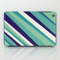 Blue Diagonal : Pattern iPad Case