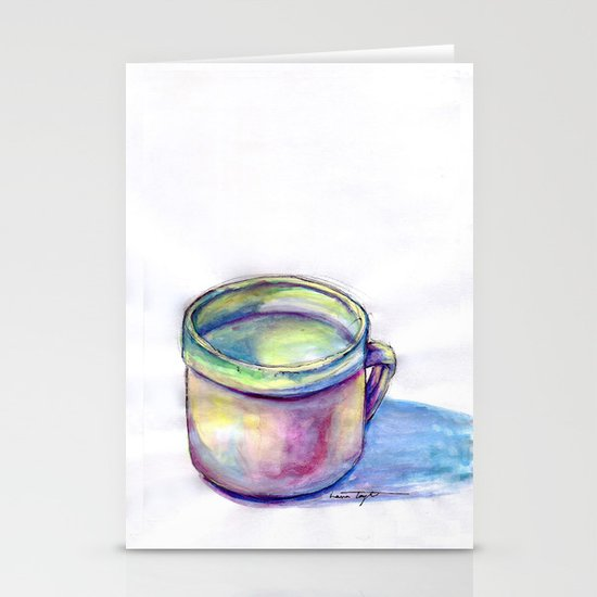 Pink Cup Stationery Card