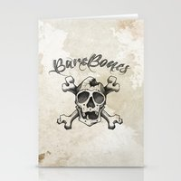 Cross Bones Stationery Cards