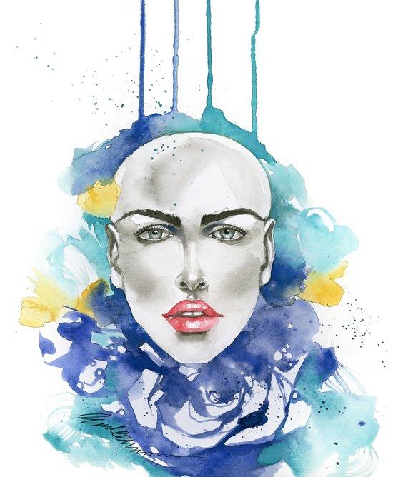 Blue Truth Art Print