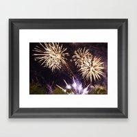 Fireworks #01 Framed Art Print