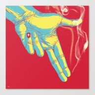 Canvas Print featuring Rock, Paper, Scissors...… by Jay Haldon