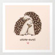 Hedge-hugs Art Print