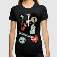Jazz Combo Womens Fitted Tee Tri-Black SMALL