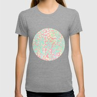 Leopard Pastel Womens Fitted Tee Tri-Grey SMALL