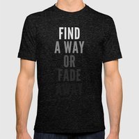Fade Away Mens Fitted Tee Tri-Black SMALL