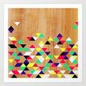 Geometric Polygons Arbutus Art Print