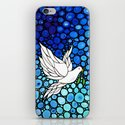 Peaceful Journey - Vibrant white dove by Labor Of Love artist Sharon Cummings. iPhone & iPod Skin